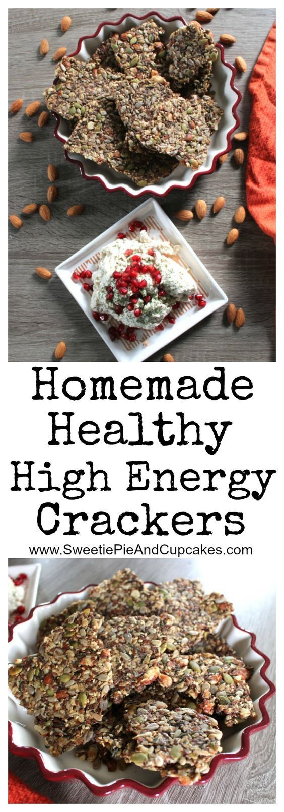 These Homemade Healthy High Energy Crackers are made with almonds, pumpkin seeds, chia seeds, sesame seeds, sunflower seeds, flax seeds, oats, psyllium seed husks, maple syrup and coconut oil. They are a great vegan treat and are packed with tons of nutritional leaving you with high energy. These crackers can be flavored with any of your favorite nuts, seeds or spices. Serve them as an appetizer or snack before your holiday meal or bring them with you hiking, camping, or for long road trips.