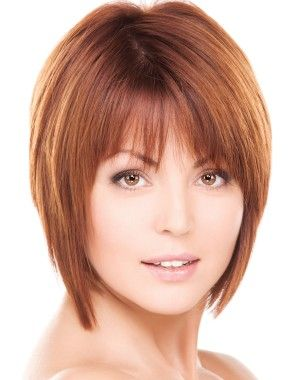 A short red straight coloured bob womens hairstyle by Web Collections