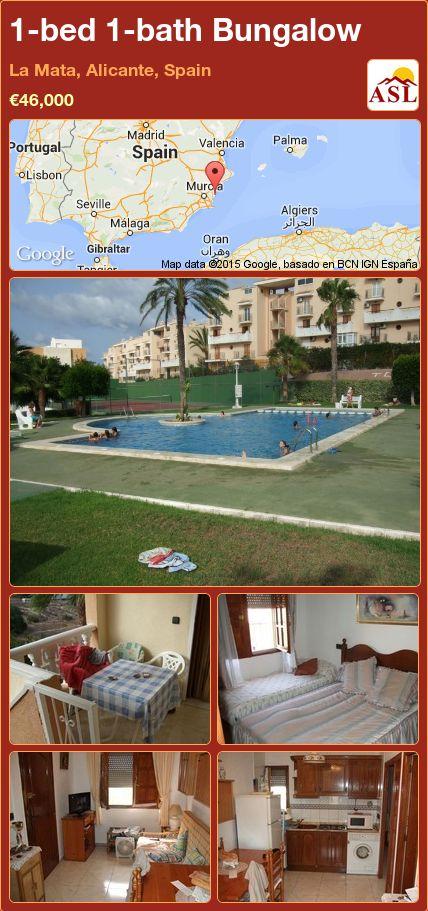 1-bed 1-bath Bungalow in La Mata, Alicante, Spain ►€46,000 #PropertyForSaleInSpain