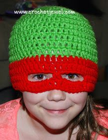 Crochet Ninja Turtles Inspired Hat I made this Teenage Mutant Ninja Turtles Hat for my 7 year old daughter who loves to be a Ninja...