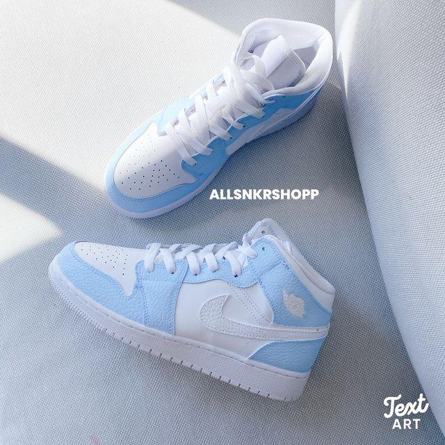 Baby blue jordan 1 by allsnkrshop | Trendy shoes, Jordan shoes ...