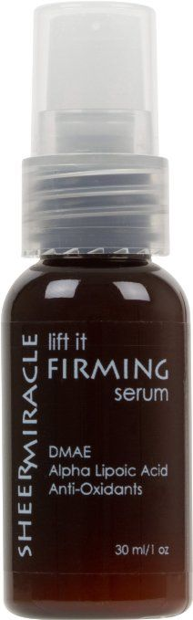 "Lift It Firming Serum with DMAE   Same actives as $100 serums at less than a third of the price.  See instant subtle lifting/plumping effect and more dramatic results with regular use.    ""I have been using this product for a couple of weeks but I actually see results in my skin texture and firmness. It is refreshing for a product to actual do what it has claimed. I will continue to use to get even better results which will of course I will need to buy lots more."" Shelly"