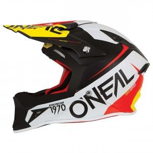 O'Neal Crosshelm 10 Series Flow Red/Yellow