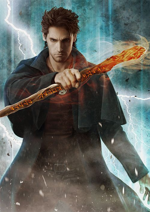 Looks so much like how I imagined Thorne. SO good. (Harry / The Dresden Files by Mika-Blackfield on DeviantArt)