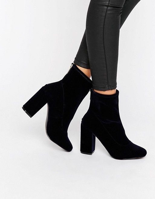 Black suede boots from ASOS