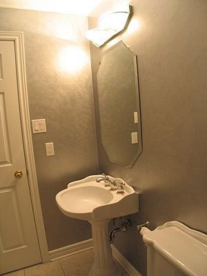 Faux Painting Small Bathroom Walls Champagne