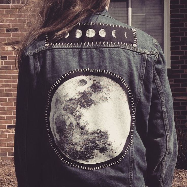 poisonappleprintshop:  The Moon phases patch and Full Moon back patch from Poison Apple Printshop.Photo from @medeas_child on Instagram.