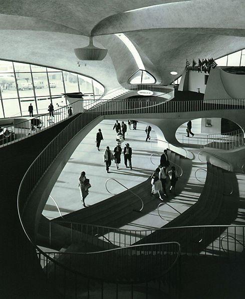 Eero Saarinen's TWA terminal design at Dulles Airport in Washington D.C. One of my favorites!