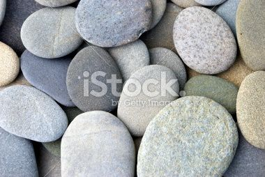 Flat Round Pebbles Royalty Free Stock Photo