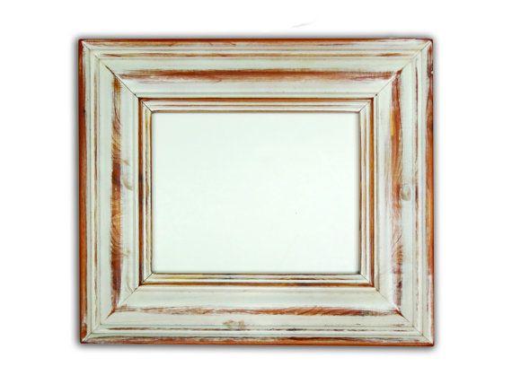 distressed white wood frame 2