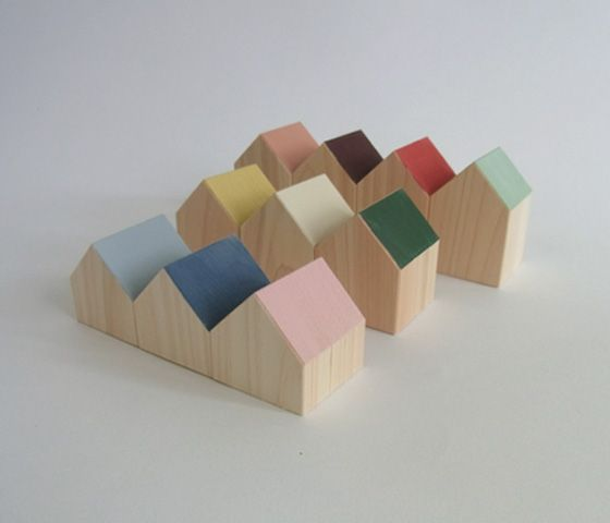 wooden house block by Chigo playthings