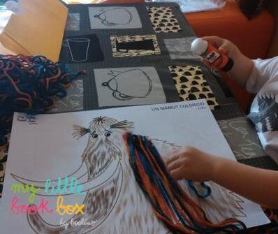 """Una mamá bloguera a compartido la foto de esta actividad #mylittlebookbox del libro """"Cómo lavar a un mamut"""", Editado por Jaguar."""