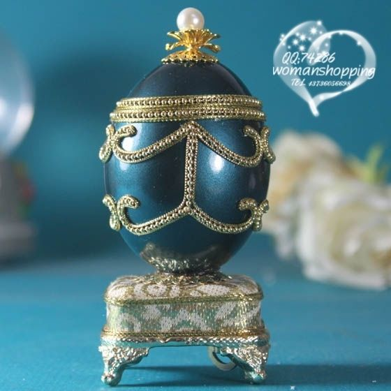 Metalic Blue Faberge style Russian carved egg music box free shipping e03 on AtomicMall.com http://atomicmall.com/view.php?id=2287286_source=Twitter_medium=ProductToools