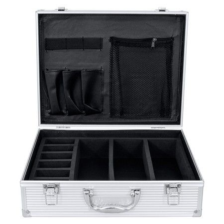 Vincent Small Master Case - Silver #VT10143-SV $59.95  Visit www.BarberSalon.com One stop shopping for Professional Barber Supplies, Salon Supplies, Hair & Wigs, Professional Products. GUARANTEE LOW PRICES!!! #barbersupply #barbersupplies #salonsupply #salonsupplies #beautysupply #beautysupplies #hair #wig #deal #promotion #sale #vincent #barbercase