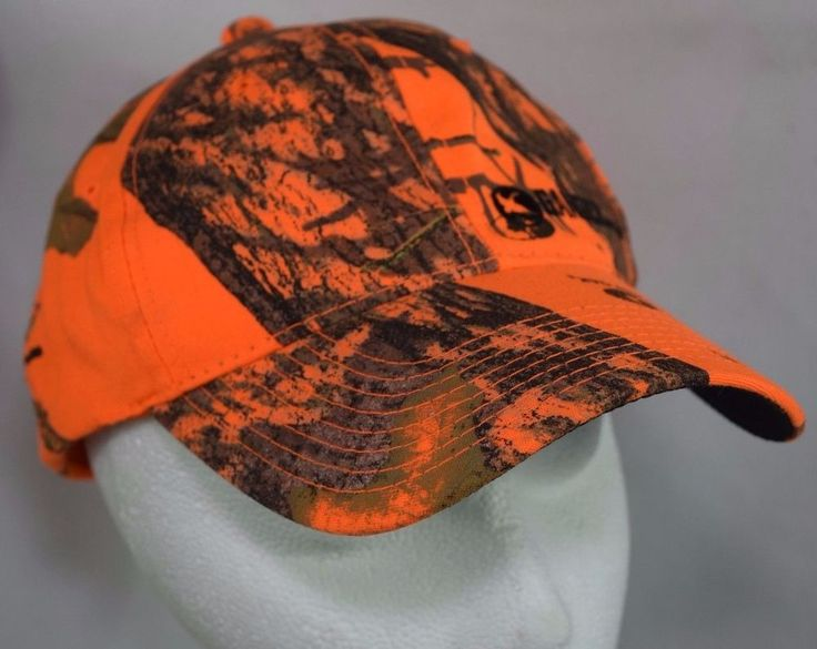 #GanderMountain Safety Orange #Camo Hat #Hunting #Camouflage Velcro Adjustable  #outdoor #BaseballCap