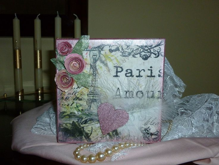 'Paris, Amour MDF Box, Top of Lid. - Products the same as previous view of box.   January 2016