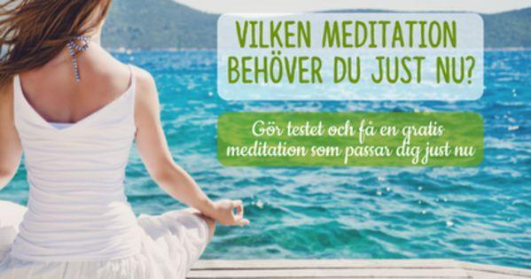 Vilken meditation passar dig bäst just nu? Gör testet och få en meditation som passar just dig!  #mediyoga #meditation #kundaliniyoga #yoga