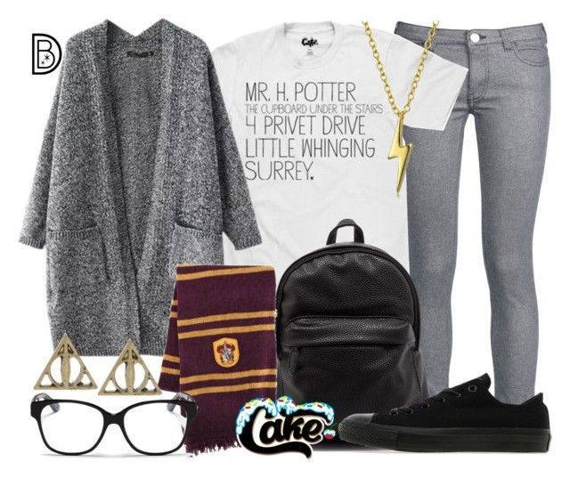"""Mr. Harry Potter"" by leslieakay ❤ liked on Polyvore featuring George J. Love, Converse, Bling Jewelry, Christian Dior and harrypotter"
