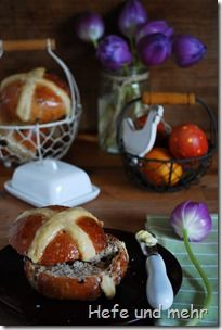 Schokoladen Hot Cross Buns
