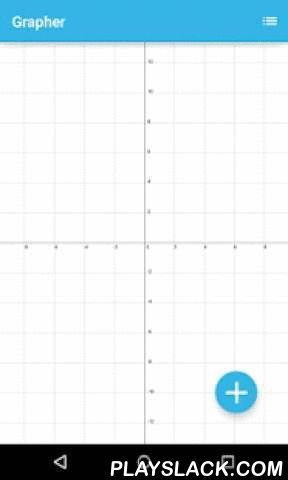 Grapher - Graphing Calculator  Android App - playslack.com ,  Grapher is useful application for all pupils and students. Ease interface will help you to build any graph or function on Cartesian coordinate system in few seconds. You can drow simple,parametric or polar type of function.You can build a lot of functions in one time on same screen in different colors.It has this features:*zooming and moving by fingers*functions list*color picker*nice and simple interface*a lot of functions*custom…