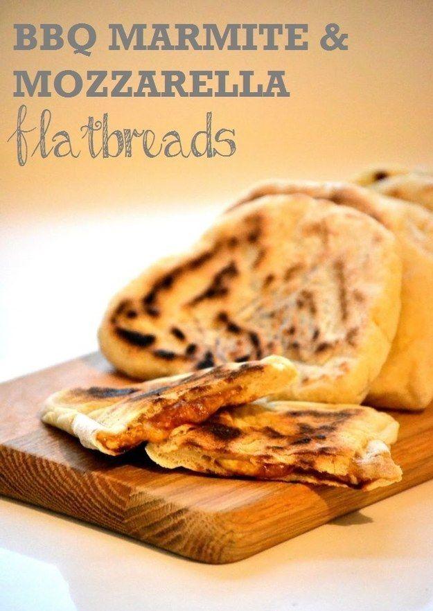 Marmite and Mozzarella Flatbreads