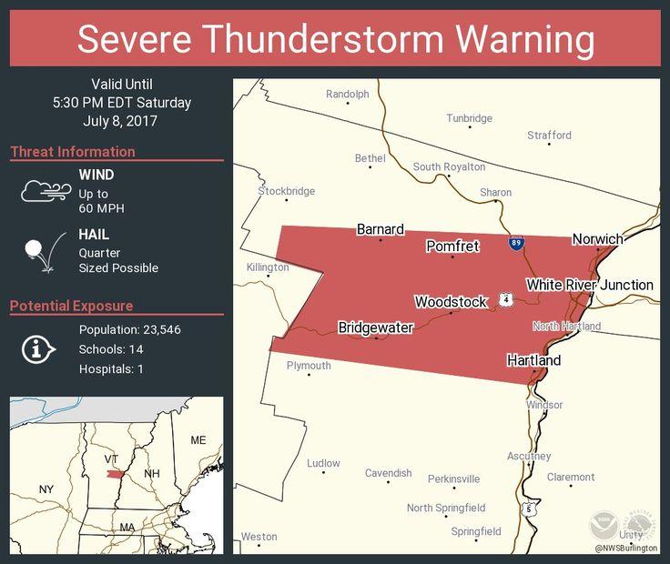 Severe Thunderstorm Warning including White River Junction VT, Woodstock VT, Norwich VT until 5:30 PM EDTpic.twitter.com/ewbJwHlx2e - https://blog.clairepeetz.com/severe-thunderstorm-warning-including-white-river-junction-vt-woodstock-vt-norwich-vt-until-530-pm-edtpic-twitter-comewbjwhlx2e/