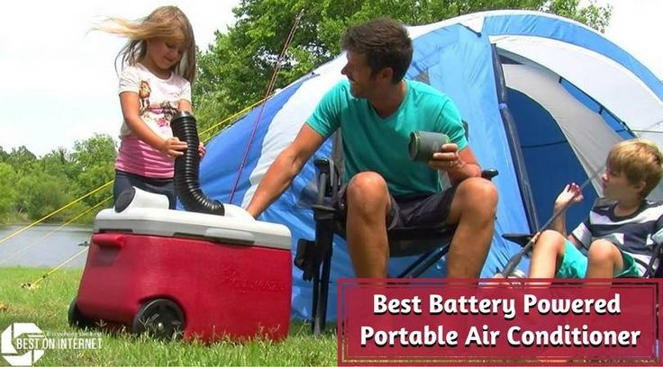 There are manybattery-powered air conditionersavailable in the market that can help you comfortably face uncomfortable weather conditions and are also easy to carry around. Here is a list of the bestbattery operated air conditioners.  http://www.bestoninternet.com/home-kitchen/heating-cooling-air-quality/battery-powered-portable-air-conditioner-for-camping-traveling/