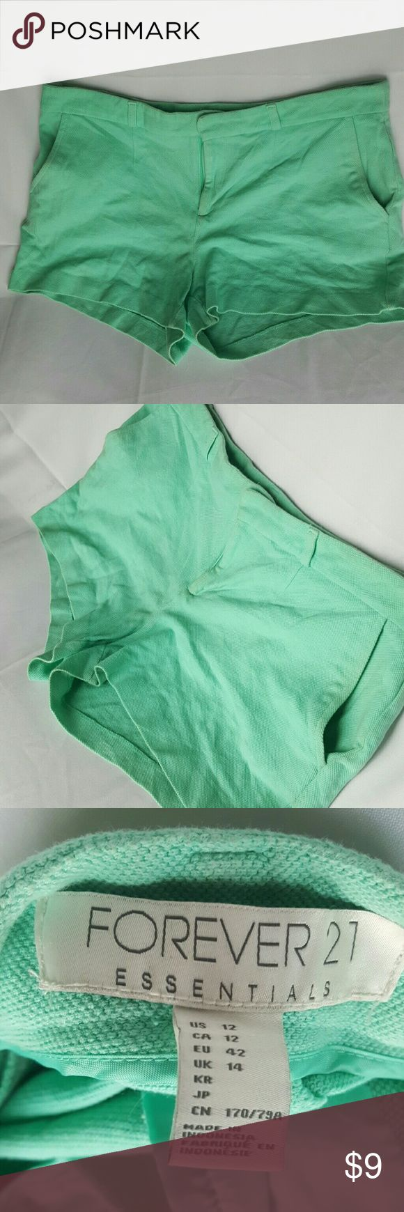 Mint green short Beautiful mint green shorts. A cute summer essential. Forever 21 Shorts