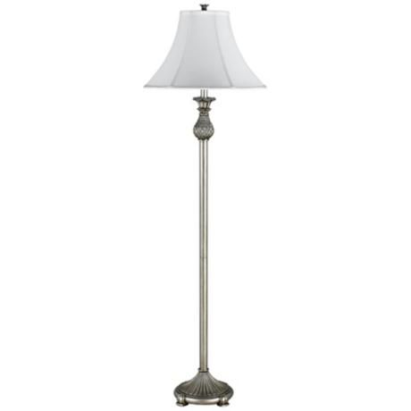 Pineapple Antique Silver Floor Lamp