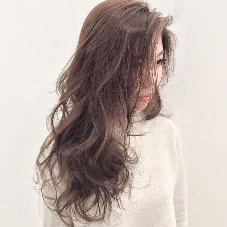 外国人風アッシュカラー  #shima #外国人風ハイライトカラー #hair #ロングヘアー