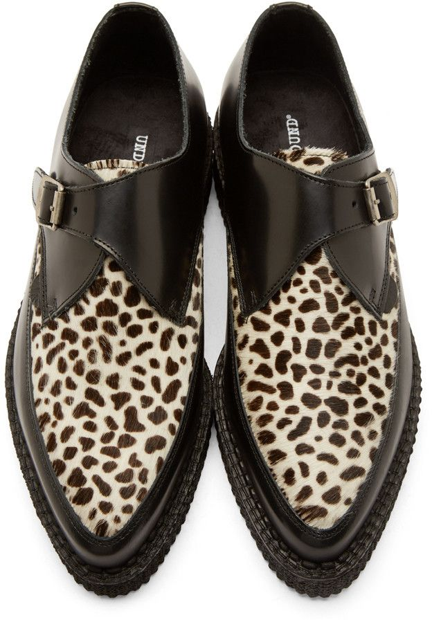 Underground Black Leopard Calf-Hair Apollo Creepers