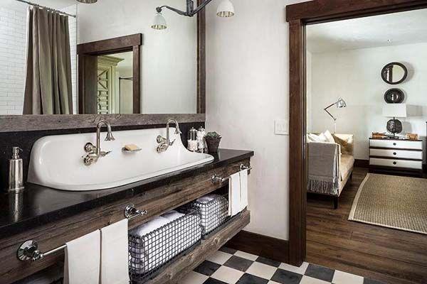 14 Amazing Farmhouse Trough Bathroom Sink Designs