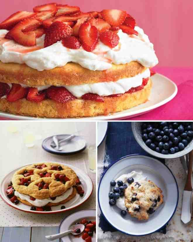 Strawberry cream cakes, Whipped cream cheese and Cream cake on ...