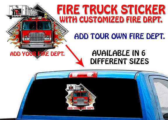 Check out new FIRE TRUCK STICKE... These are selling fast http://usamoderngear.com/products/fire-truck-sticker-that-you-custoize?utm_campaign=social_autopilot&utm_source=pin&utm_medium=pin