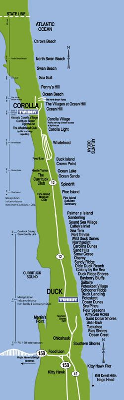 Community Information and Maps in Corolla and the 4x4 Beaches