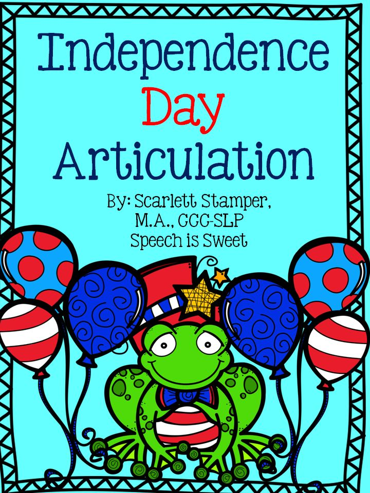A freebie for Independence Day Articulation! This interactive packet is a great way to celebrate any patriotic holiday in speech therapy!