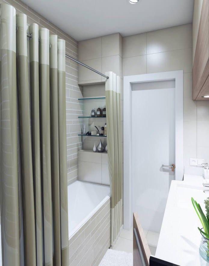 дизайн ванной комнаты 3,2 кв. м.