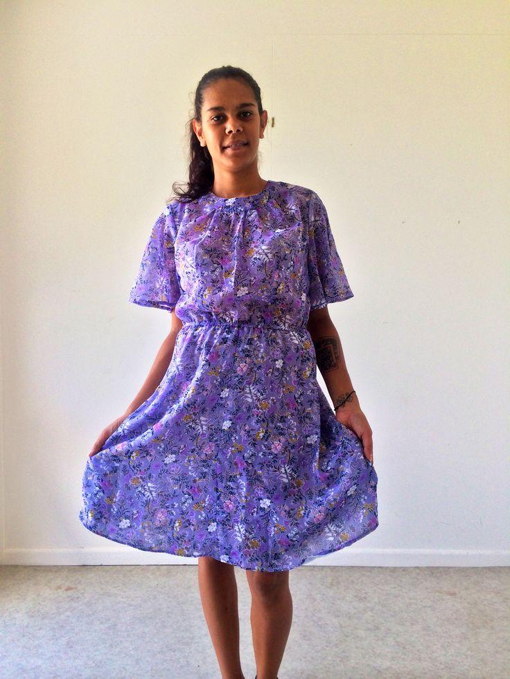 Purple vintage dress.