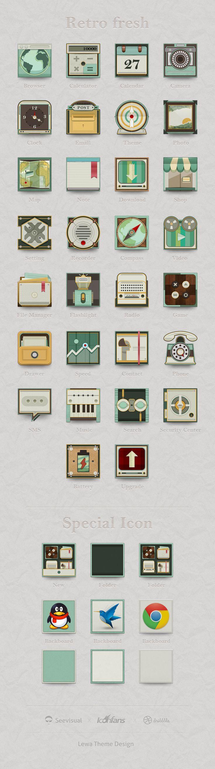 Lewa Theme design by see, via dribbble #icon