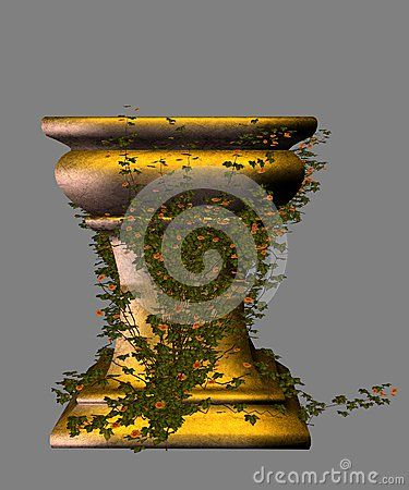 Golden Fairy Pedestal With Ivy - Download From Over 32 Million High Quality Stock Photos, Images, Vectors. Sign up for FREE today. Image: 53748079
