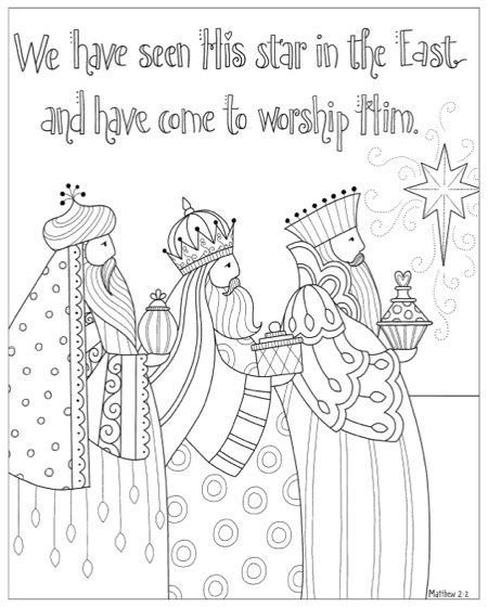 christmas coloring book in his name  for his glory