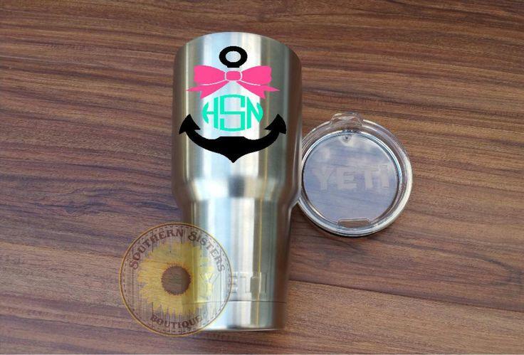 Yeti Custom Decal, Yeti Rambler, Custom Decal, Monogram Decal, Personalized Yeti, Custom Yeti Cup, Monogram Cup, Personalized Cup by SouthernSistersByJen on Etsy https://www.etsy.com/listing/244895357/yeti-custom-decal-yeti-rambler-custom
