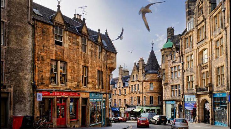 Edimbourg, la capitale de l'Ecosse, est parfois surnommée l' «Athènes du Nord». Un bel ensemble d'architecture géorgienne.