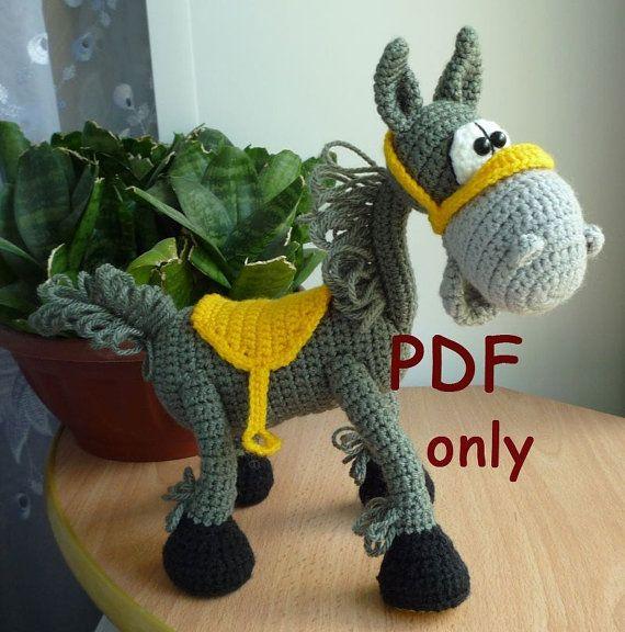 Mustang, crocheted amigurumi, PDF pattern