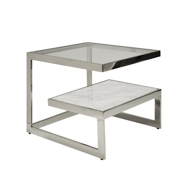Worlds Away Beacon Marble Two Tier Coffee Table Iron Table Table Marble Shelf