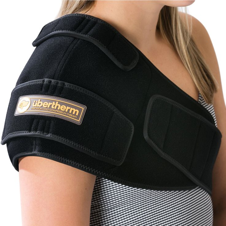 übertherm Shoulder Pain Relief Cold Wrap / Compression Ice Pack: New Ice Pillow Technology for Sting-Free Cold Therapy - Right