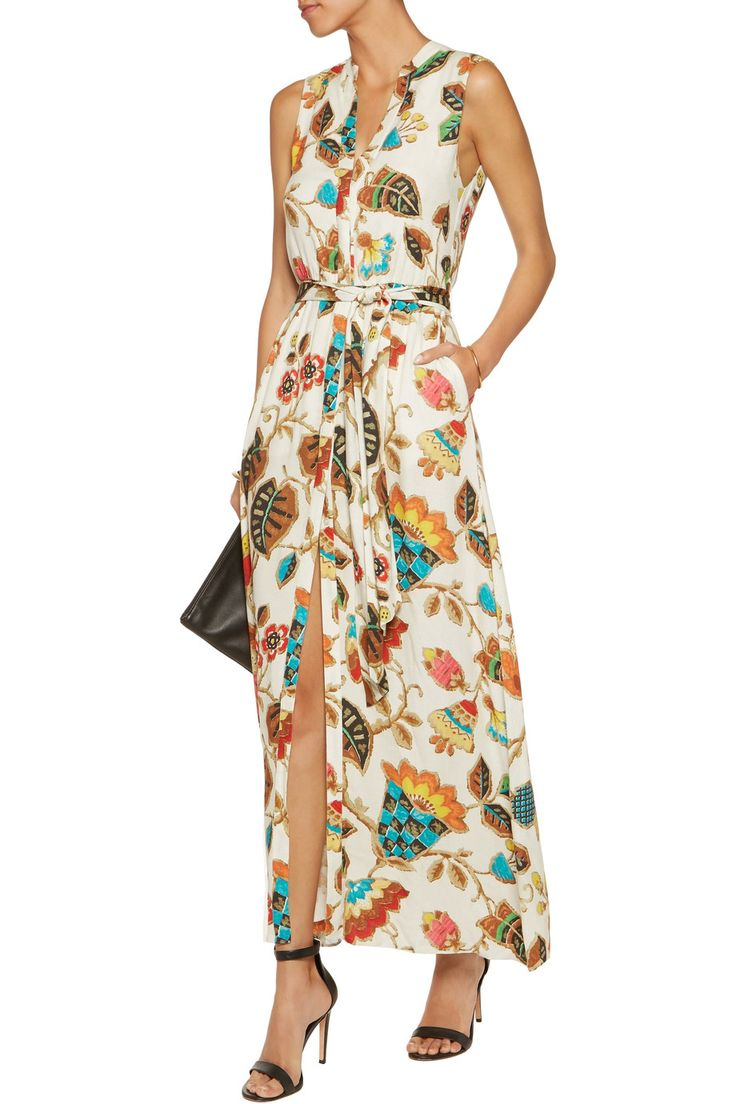 Alice + Olivia Marianna printed washed twill maxi dress