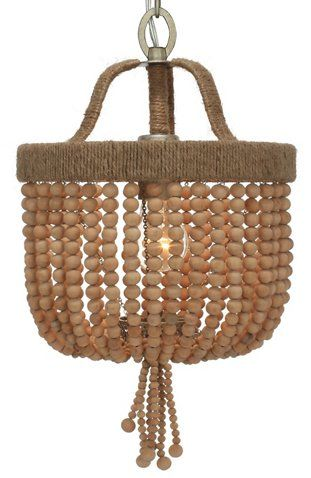 Eva Beaded Chandelier, Jute/Wood - Ceiling Lights & Fans - Indoor and Outdoor Lighting - Lighting | One Kings Lane