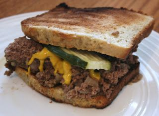 A Year of Slow Cooking: Slow Cooker Loose Meat Sandwiches Recipe. What I like about this is that leftovers can be used again the next day for something else.
