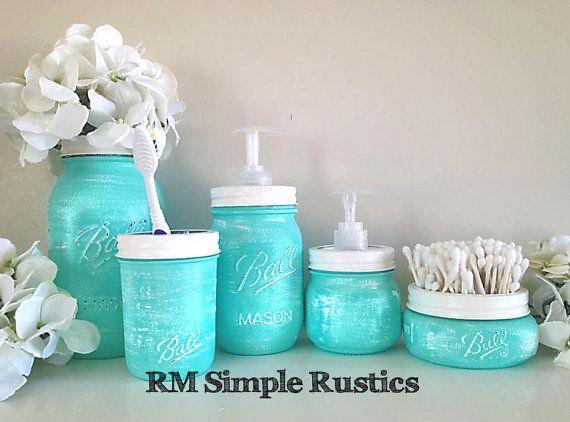 Small Bathroom Jars 197 best jar uses images on pinterest | mason jar crafts, mason